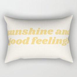 sunshine and good feelings Rectangular Pillow