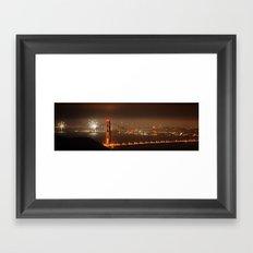 Fireworks over Golden Gate Bridge Framed Art Print