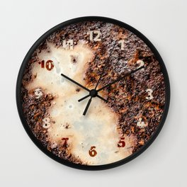 Cool brown rusty metal texture Wall Clock