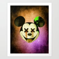 mickey Art Prints featuring Mickey by wrong planet