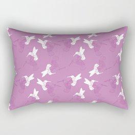 Humming Bird Pink Rectangular Pillow