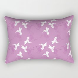 Humming Bird Pink Rectangular Pillow