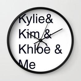 Kylie Kim Khloè Crew Wall Clock
