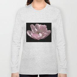Tulip with gauze textured petals Long Sleeve T-shirt