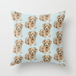 Schnoodle Pups Throw Pillow