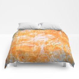 French Twist Orange Comforters