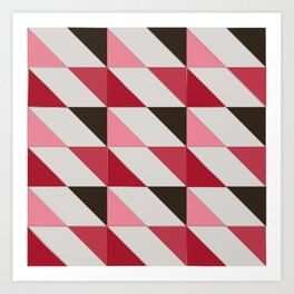 triangle shift - peppercorn  | flavour-based graphic pattern Art Print