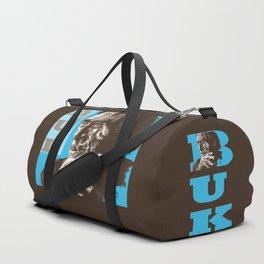 Charles BUKowski - POP-ART - sepia blue Duffle Bag
