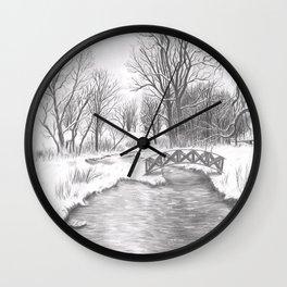 Snowy Landscape Wall Clock