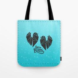 Tiny Little Love Birds Tote Bag