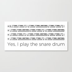 I play the snare drum Canvas Print