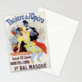 1897 Masquerade ball Paris Opera Stationery Cards