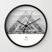 the cure Wall Clocks featuring The Cure  by Kelly Baskin