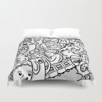 family Duvet Covers featuring family by ybalasiano