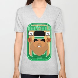 Basketball Green - Court Dunkdribbler - Seba version Unisex V-Neck