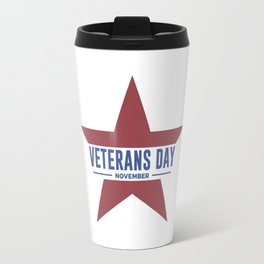 Veterans Day Commemorative Star Design Travel Mug