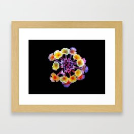 Camara flower - natural mandala Framed Art Print