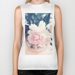 Beautiful Peony Flower Art Biker Tank