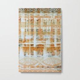 needlepoint sampler in sunny rays Metal Print