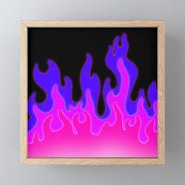 Bright Pink and Purple Flames! Framed Mini Art Print
