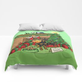 Manchester Terrier Christmas Comforters