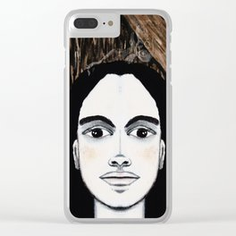 The TIC TOC FRIDA menAge Clear iPhone Case