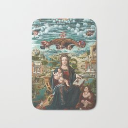 Virgin and Child with the Infant Saint John Bath Mat