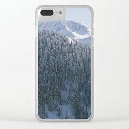 Snow Covered Cascade Mountains Clear iPhone Case