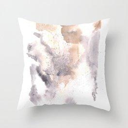 Watercolor Texture Movement | [Grief] Haze Throw Pillow