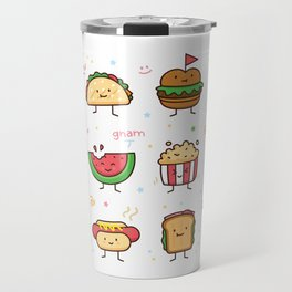 Food Doodle Travel Mug