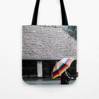 umbrella Tote Bags featuring umbrella by Deviens