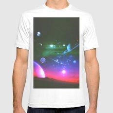Cosmic Network Mens Fitted Tee MEDIUM White