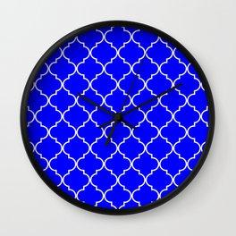 Quatrefoil - Blue Wall Clock