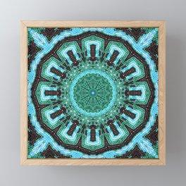 Memories in pale blue Framed Mini Art Print