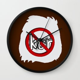 Dun Kur Bear [Don't Care Bear Brown/Grizzly] Wall Clock