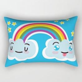 Happy Sappy Rainbow Rectangular Pillow
