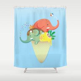summer cone Shower Curtain