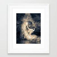 introvert Framed Art Prints featuring introvert. by Viviana Gonzalez