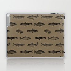 Fishes In Geometrics (Dark Sand) Laptop & iPad Skin
