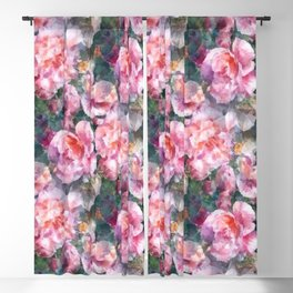 Pink floral pattern Blackout Curtain