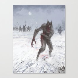 Wounded Wolf Canvas Print