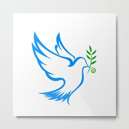 dove symbol draw Metal Print
