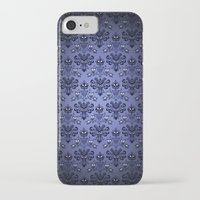haunted mansion iPhone & iPod Cases featuring Beauty Haunted Mansion Wallpaper Stretching Room by ThreeBoys
