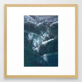 Beach Waves Digital Print, Ocean Water Print, Blue Sea Printable, Sandy Seashore Poster, Blue Water Framed Art Print