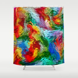 Magic Carpet Ride Abstract Shower Curtain