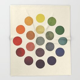 'Parsons' Spectrum Color Chart' 1912, Remake 2 (enhanced) Throw Blanket