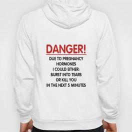 Danger Pregnancy Hormones Vest Strappy Top funny comic maternity Baby Pregnancy t-shirts Hoody