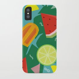 Watermelon, Lemon and Ice Lolly iPhone Case