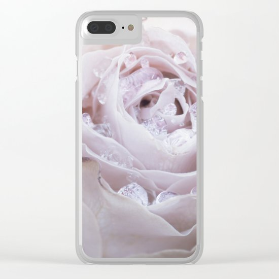 Frozen Pink Rose in Winter - Roses and Flowers Clear iPhone Case