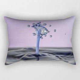 Blue water flower waterdrop Rectangular Pillow